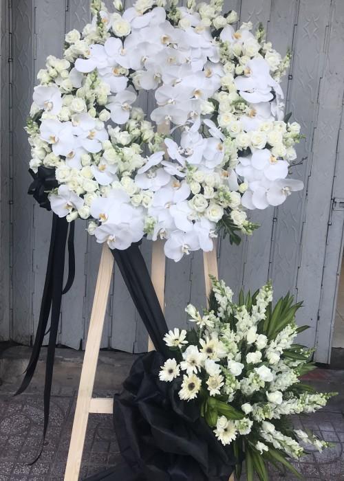 Kệ hoa tang tone trắng