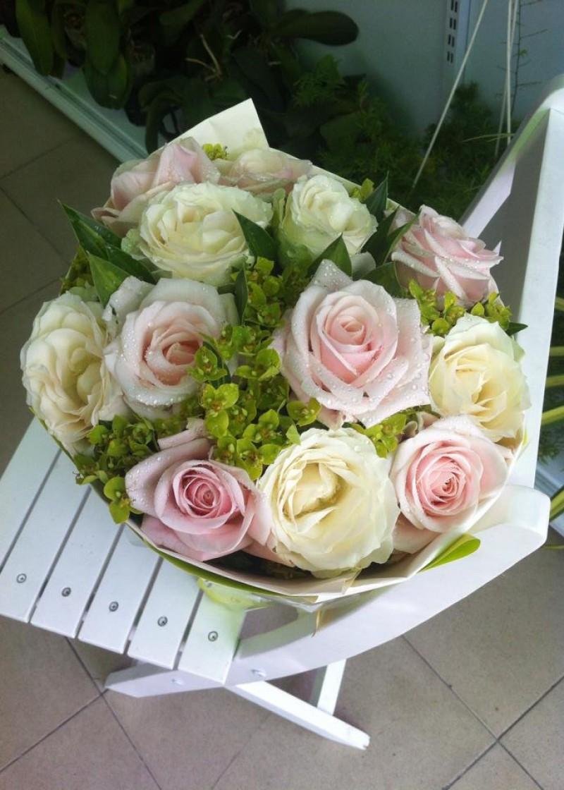 bó hoa hồng da